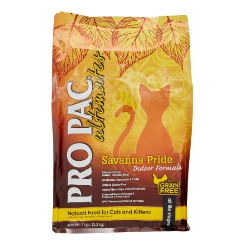 Pro Pac Ultimates Savanna Pride Grain Free Chicken Indoor Cat Food - 5 lbs