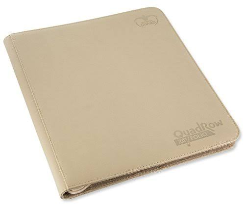 Ultimate Guard 12-Pocket QuadRow ZipFolio Card Portfolios - Sand