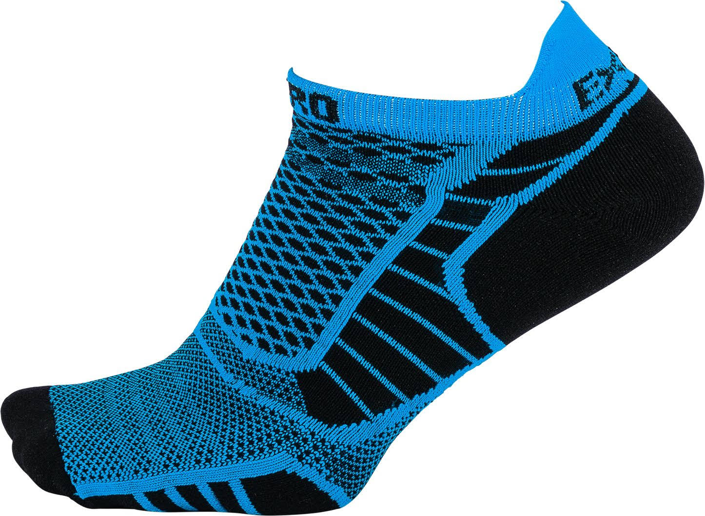 Thorlos Experia Prolite No-Show Tab Socks - Medium, Blue Aster/Black