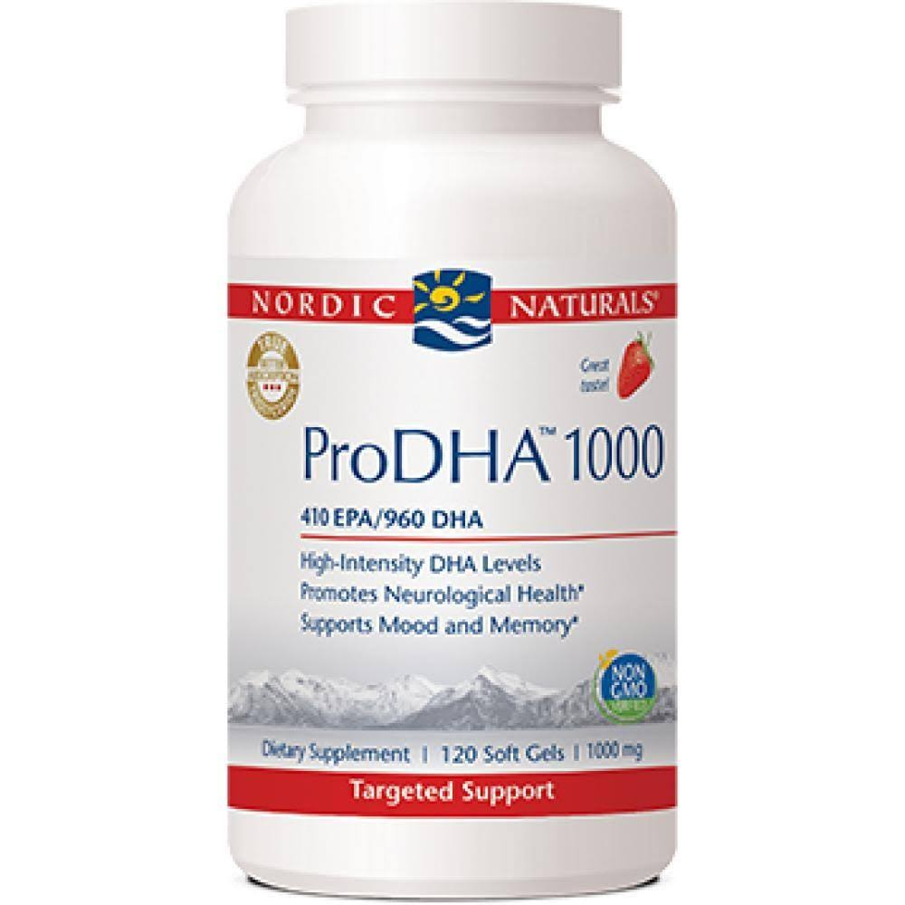 Nordic Naturals ProDHA - Strawberry, 1000mg, x120