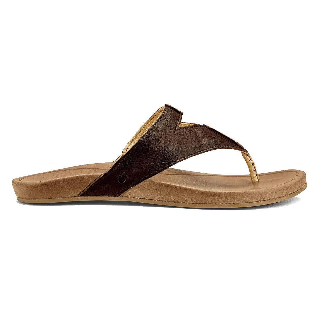 OluKai Women's 20321 Lala Sandals - Kona Coffee/Tan, USW8