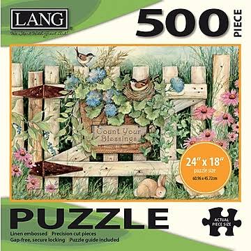 Lang Garden Gate Jigsaw Puzzle - 500pc