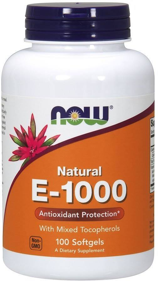 Now Foods E-1000 Dietary Supplement - 100 Softgels