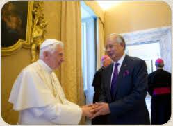 Бенедикт XVI дал аудиенцию премьеру Малайзии Наджибу Бин Абдул Разаку