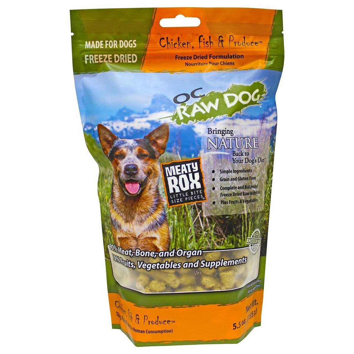 O.C. Raw Freeze Dried Chicken, Fish & Produce Rox 5.5 oz Dog Food