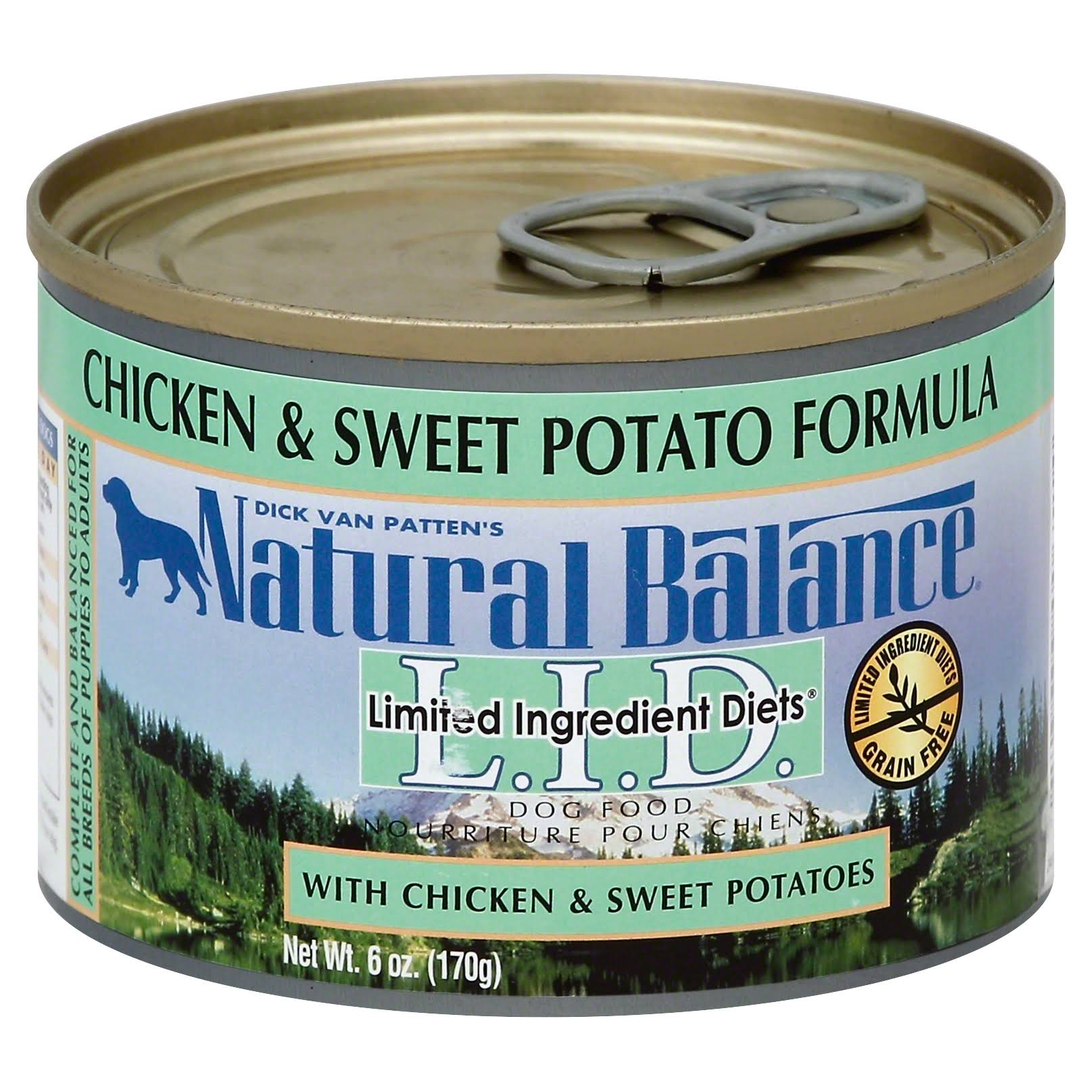Natural Balance Limited Ingredient Diets Canned Wet Dog Food - Chicken and Sweet Potato Formula, 6oz