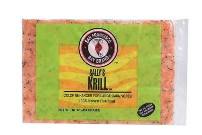San Francisco Bay Sally's Krill Frozen Fish Food - 16oz