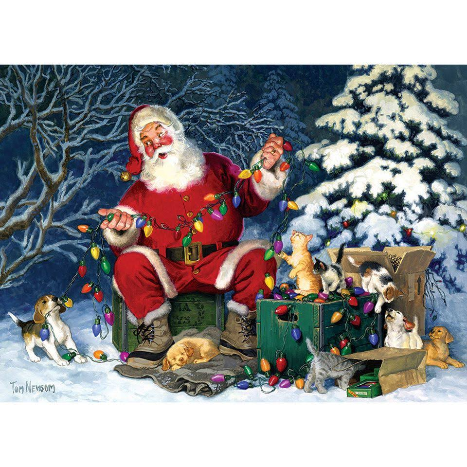 Santa's Little Helper Cobble Hill 500 Piece Puzzle