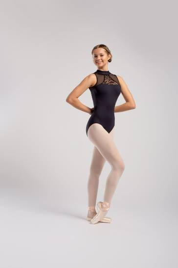 So Danca High Neck with Snap Closure Leotard