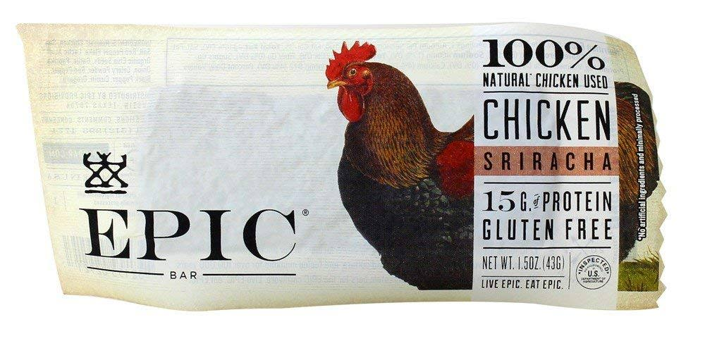 Epic Bar, Chicken, Sriracha - 1.5 oz bar