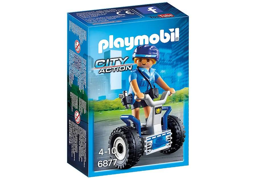 Playmobil 6877 City Action Policewoman Play Set - with Balance Racer