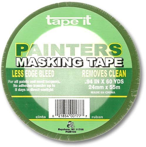 Tape It Painters Masking Tape for All Paints and Most Lacquers, 60 Yards Length x 15/16 Width