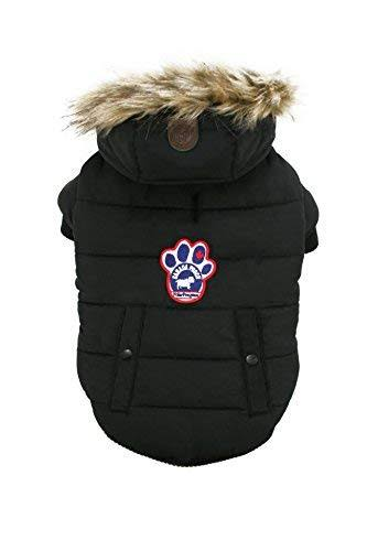 Canada Pooch Parka Dog Coat - Size 26, Black