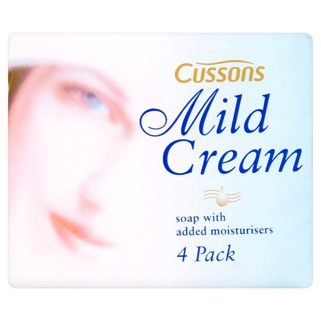Cussons Mild Cream Soap Bar - 4 Pack, 360g