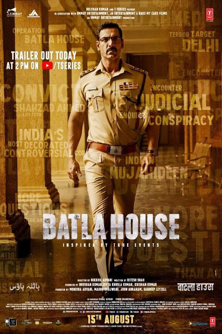 Batla House (2019) Hindi 1080p + 720p + 480p WEB-DL x264 AAC DD5.1 ESUB | 2.48GB | 1.2GB | 400MB | Download | Watch Online | [G-Drive]