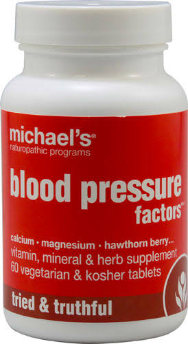 Michael's Naturopathic Programmes Blood Pressure Factors Nutritional Supplements - 60 Tablets