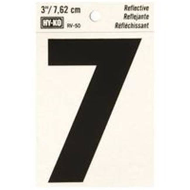 Hy-Ko Products Reflective 7 House Number