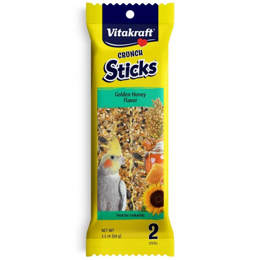 Vitakraft Crunch Sticks Golden Honey Cockatiel Treat 3.5 oz