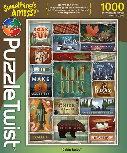 PuzzleTwist Cabin Rules Something's Amiss Puzzle - 1000 Pcs.