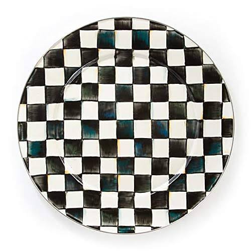 MacKenzie Childs Enamel Platter - Courtly Check