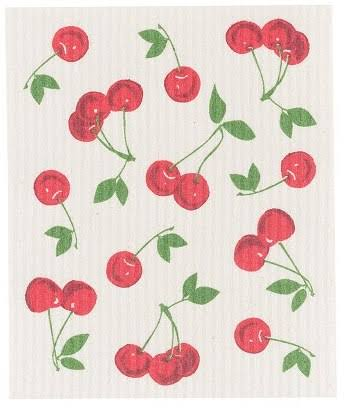 Now Designs Cherries Swedish Dishcloth