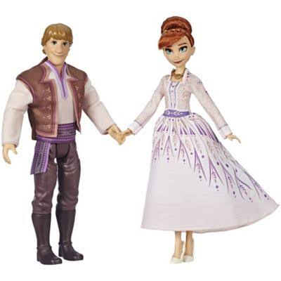 Disney Frozen 2 Anna and Kristoff Fashion Dolls, Color: Red
