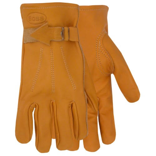 Boss 6023L Leather Grain Gloves - Large