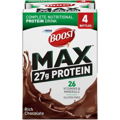 Boost Max Nutritional Shake - Rich Chocolate, 11oz, 4ct