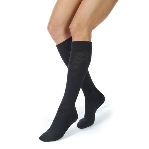 Jobst Activewear 15-20 mmHg Knee High Compression Socks Black Medium
