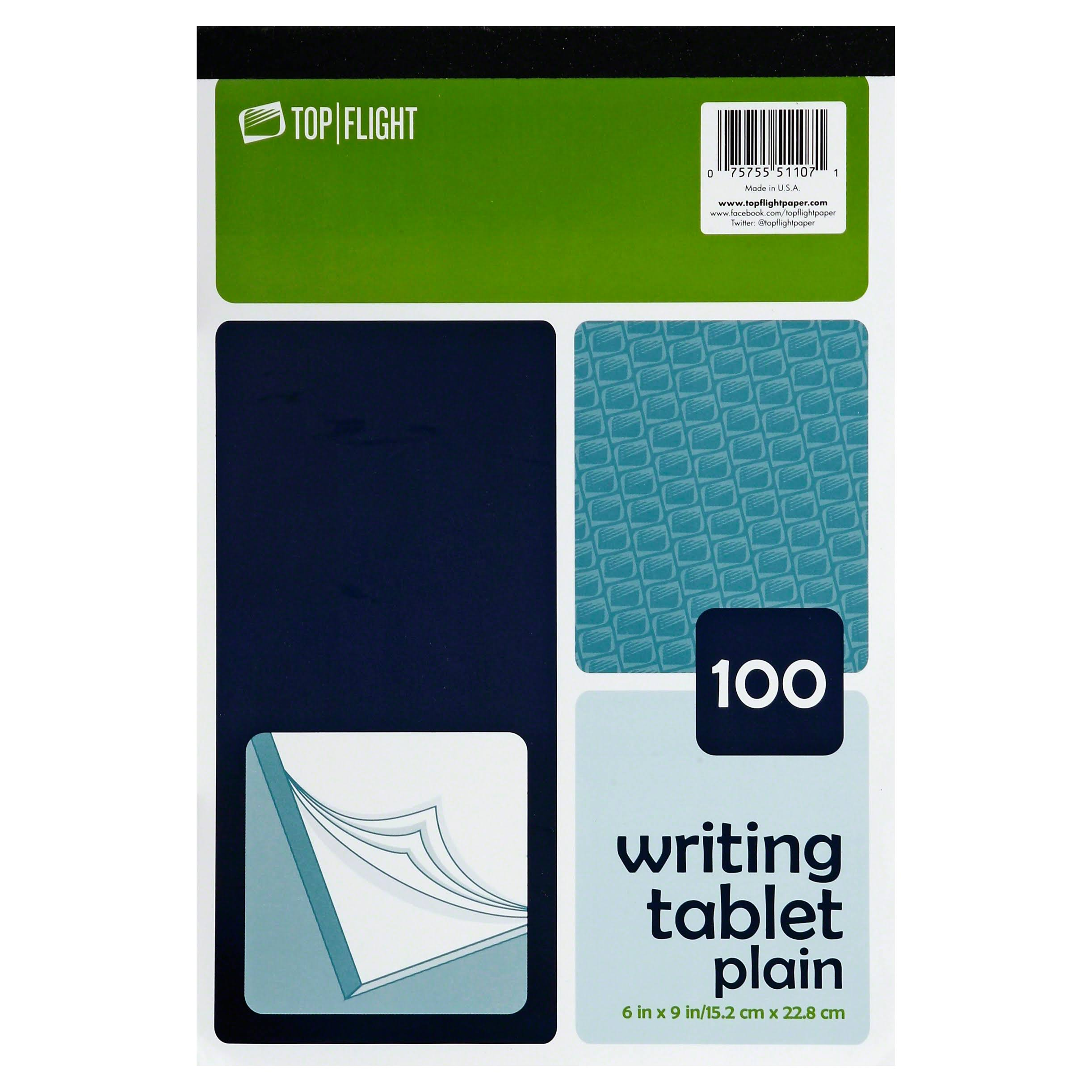 Top Flight 4701024 Writing Tablet - Unruled White, 100 sheets