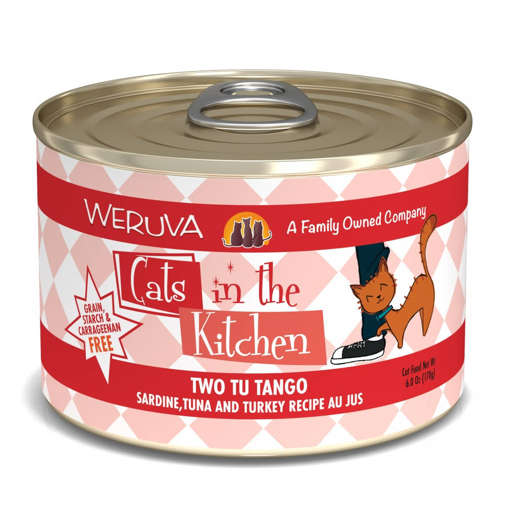 Weruva Cats in The Kitchen Two Tu Tango Cat Food 6 oz 24 Can Case