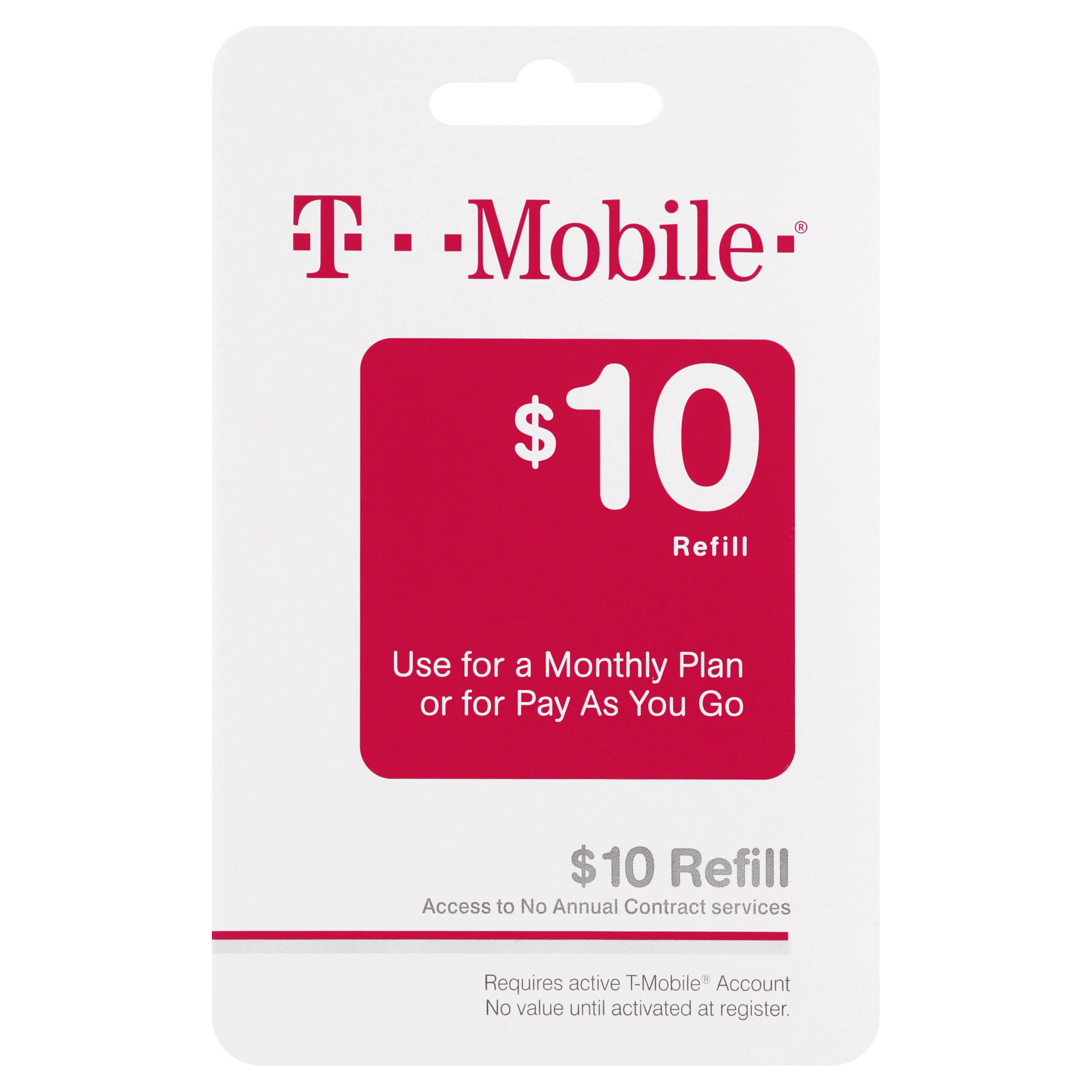 T Mobile Refill Card,