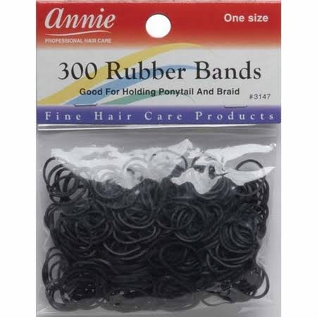 Annie Rubber Bands 300 Count: Black