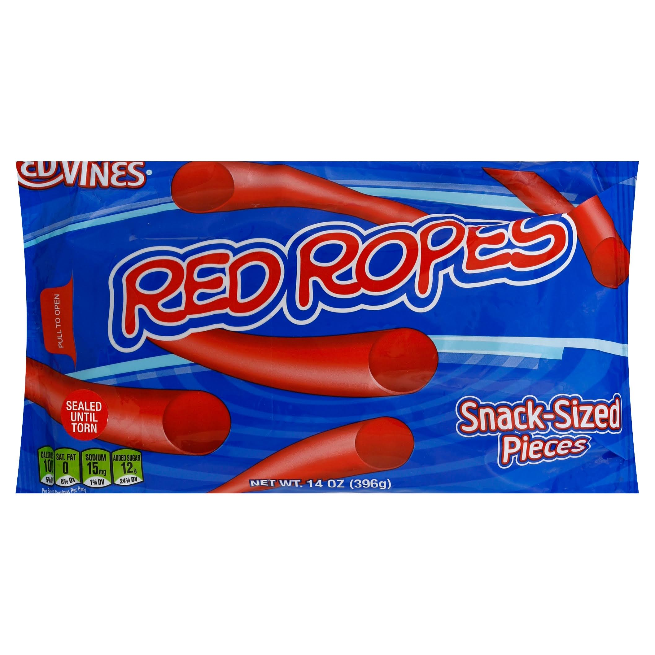 Red Vines Candy, Red Ropes, Snack-Sized Pieces - 14 oz