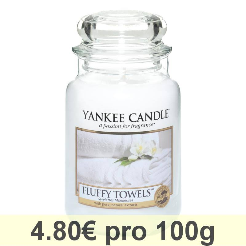 Yankee Scented Candle - Large Jar, Fluffy Towels