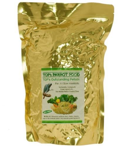 Tops All Natural Bird Pellets - for Parrots, 10lbs