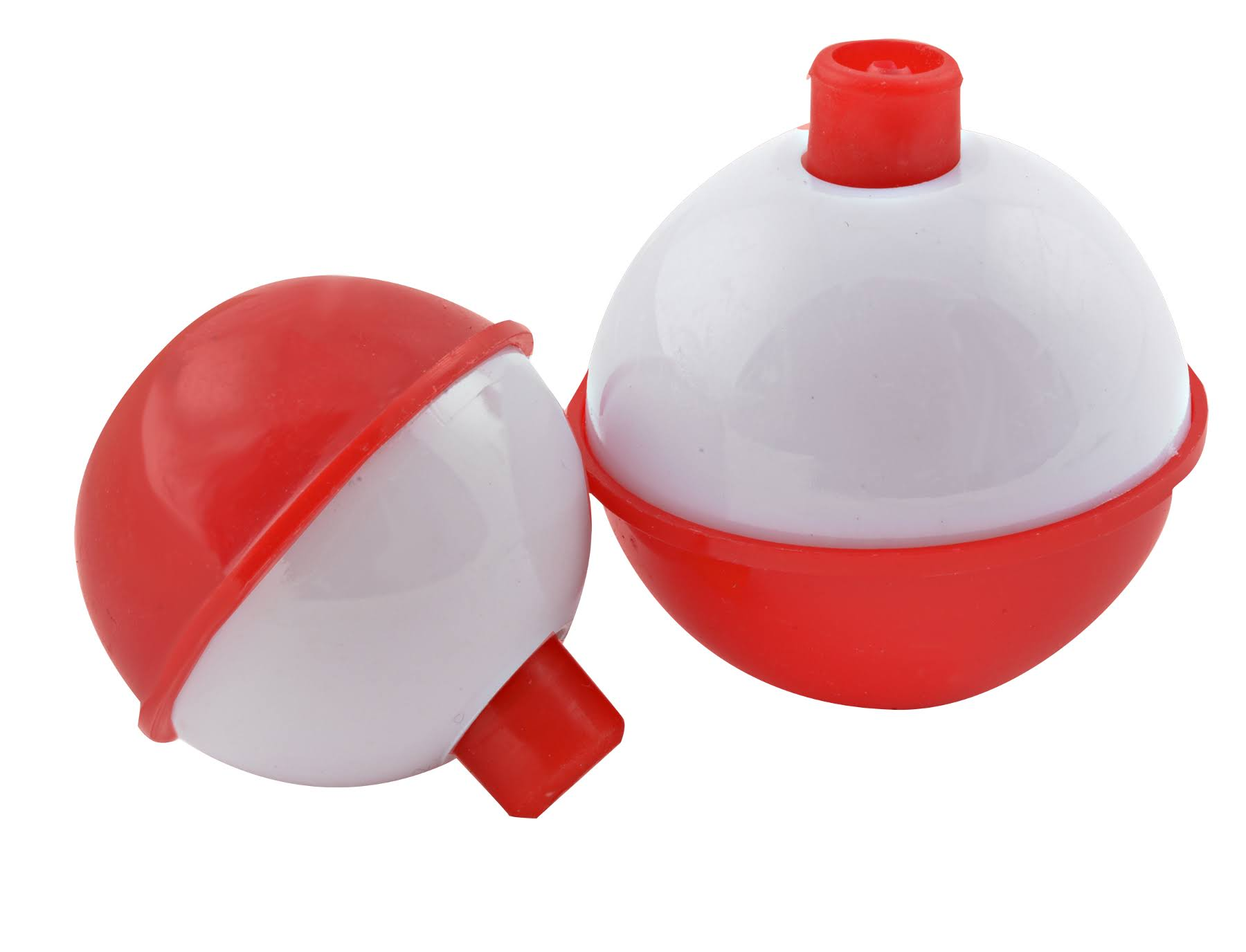 South Bend Push Button Fishing Float - Red and White, 1""