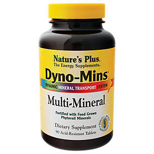 Nature's Plus Dyno-mins Multi-mineral Dietary Supplement - 90 Tablets