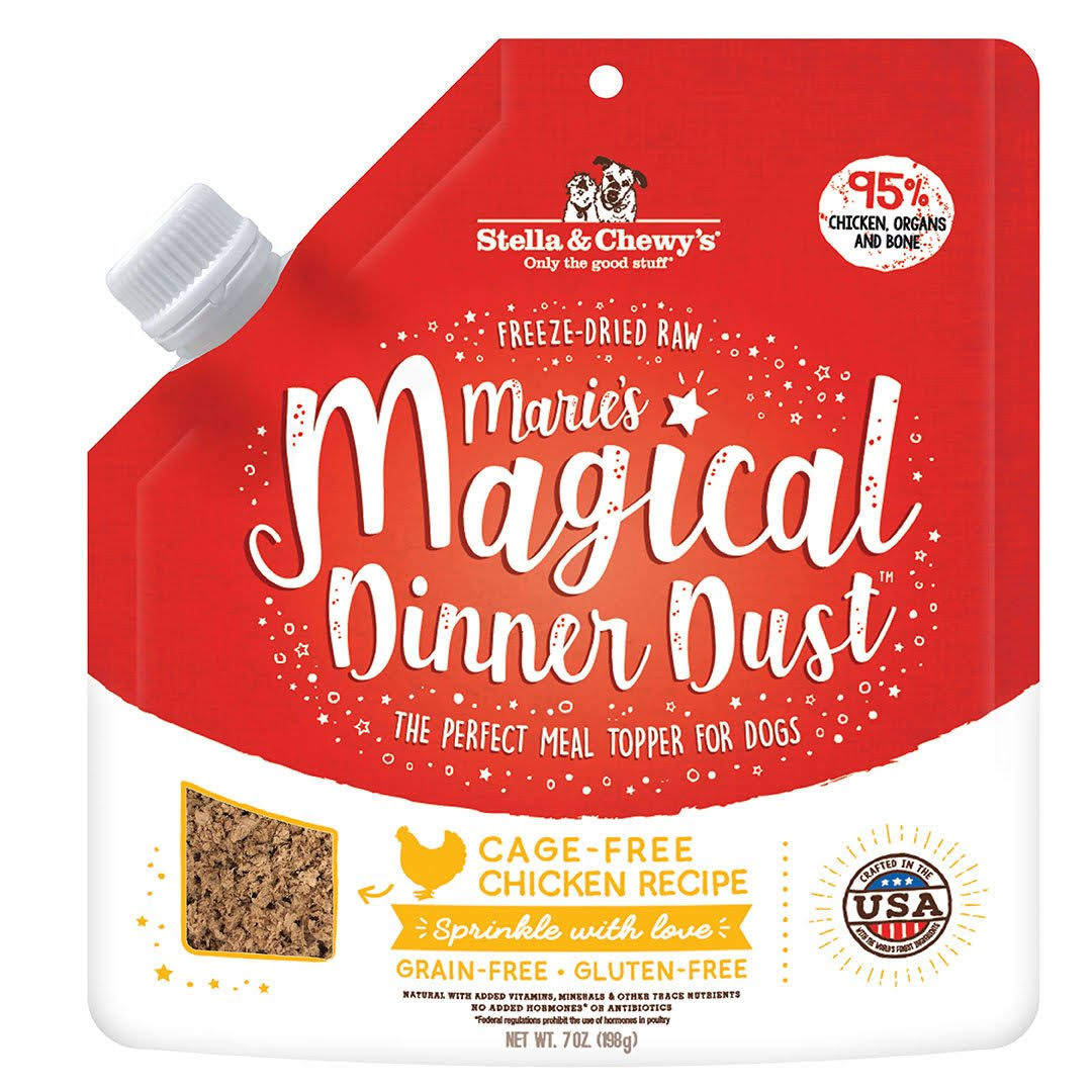 Stella & Chewy's Marie's Magical Dinner Dust Freeze-Dried Cafe Free Chicken Recipe Dog Food Topper - 7-oz