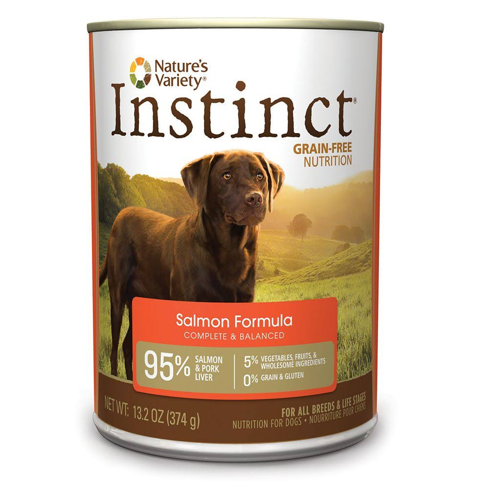 Nature's Variety Instinct Grain-Free Canned Dog Food - Salmon 13.2 oz