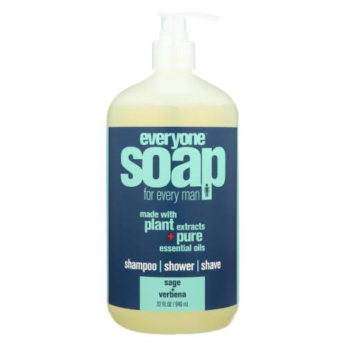 Everyone for Every Man 3 in 1 Mens Soap - Sage + Verbena, 32oz