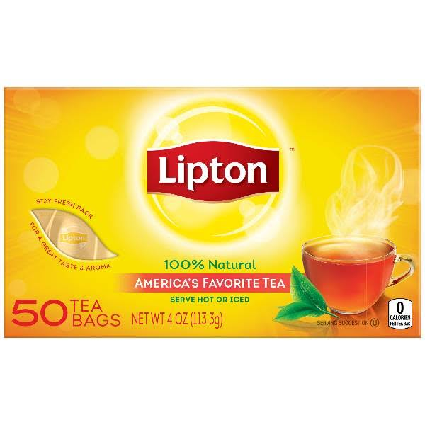 Lipton Black Tea Bags - 50 Count