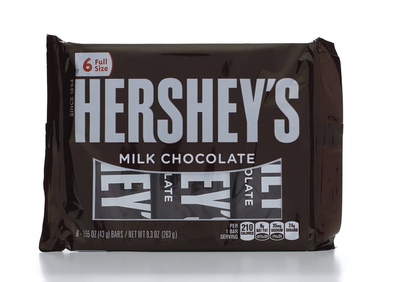 Hershey's Milk Chocolate Bars - 6pk