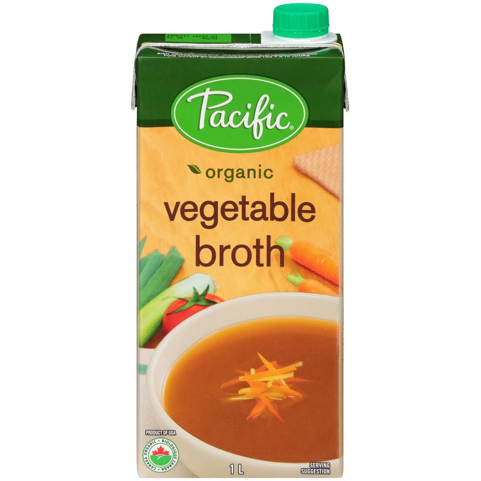 Pacific Organic Vegetable Broth 1l Carton