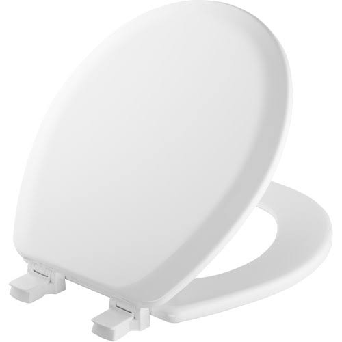"Bemis Molded Wood Round Toilet Seat - White, 14.63""x16.5"""