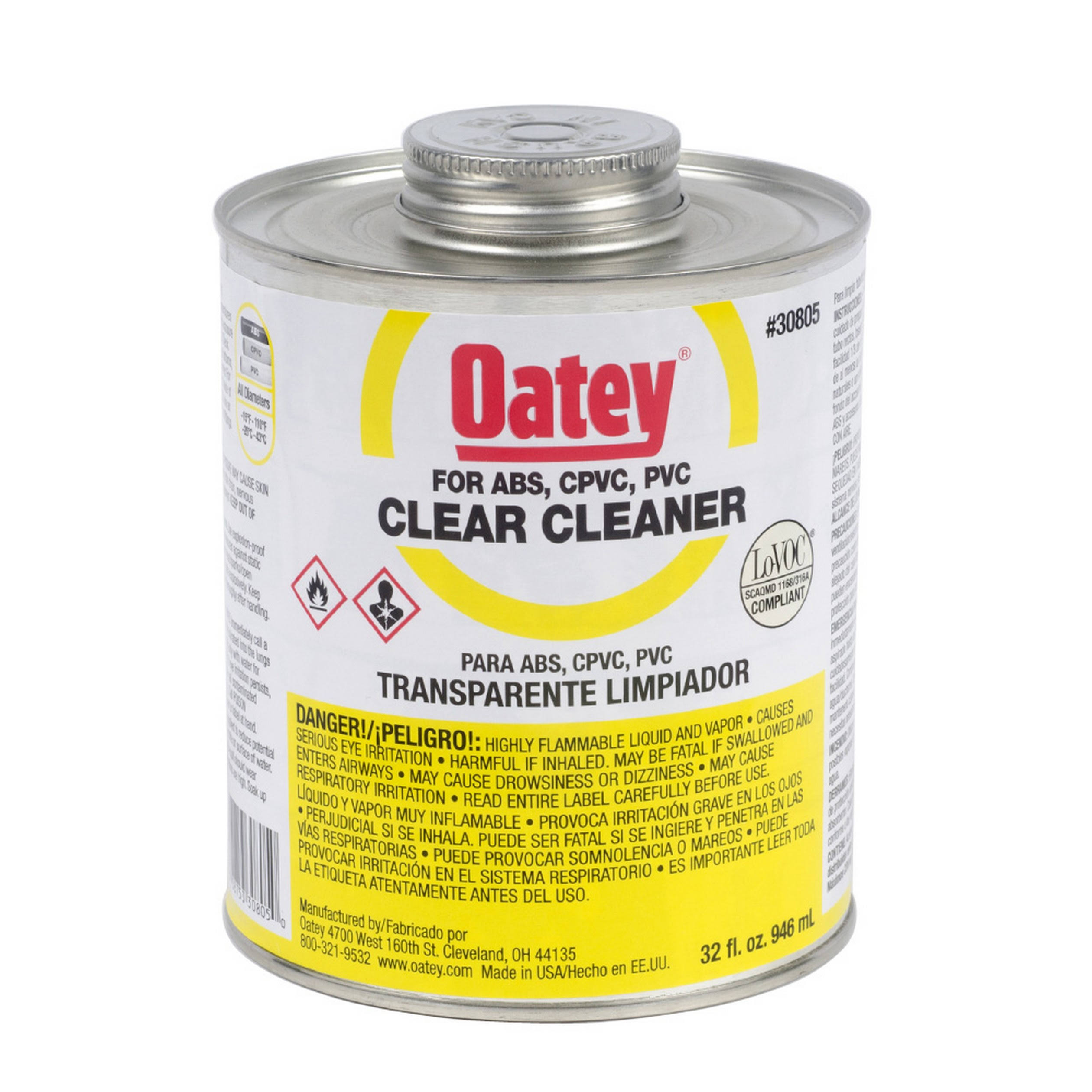 Oatey 307823 All-Purpose Pipe and Fitting Cleaner - 8oz