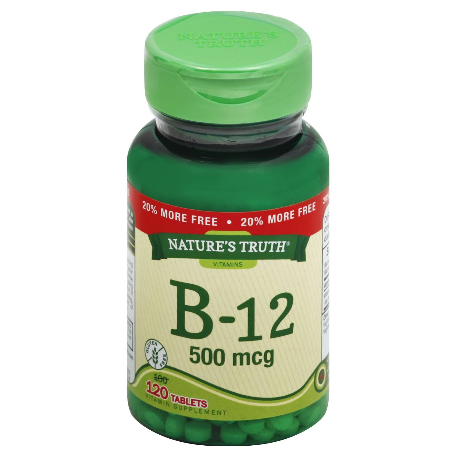 Nature's Truth Vitamin B-12 500mg Tablets - x120