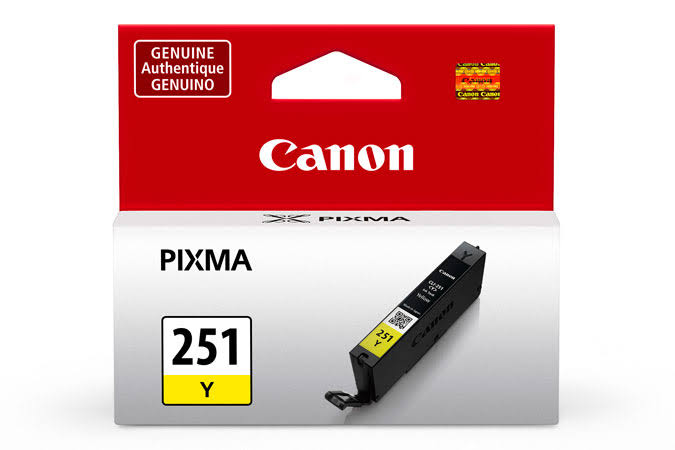 Canon CLI-251Y Ink Cartridge - Yellow, 330 Page Yield