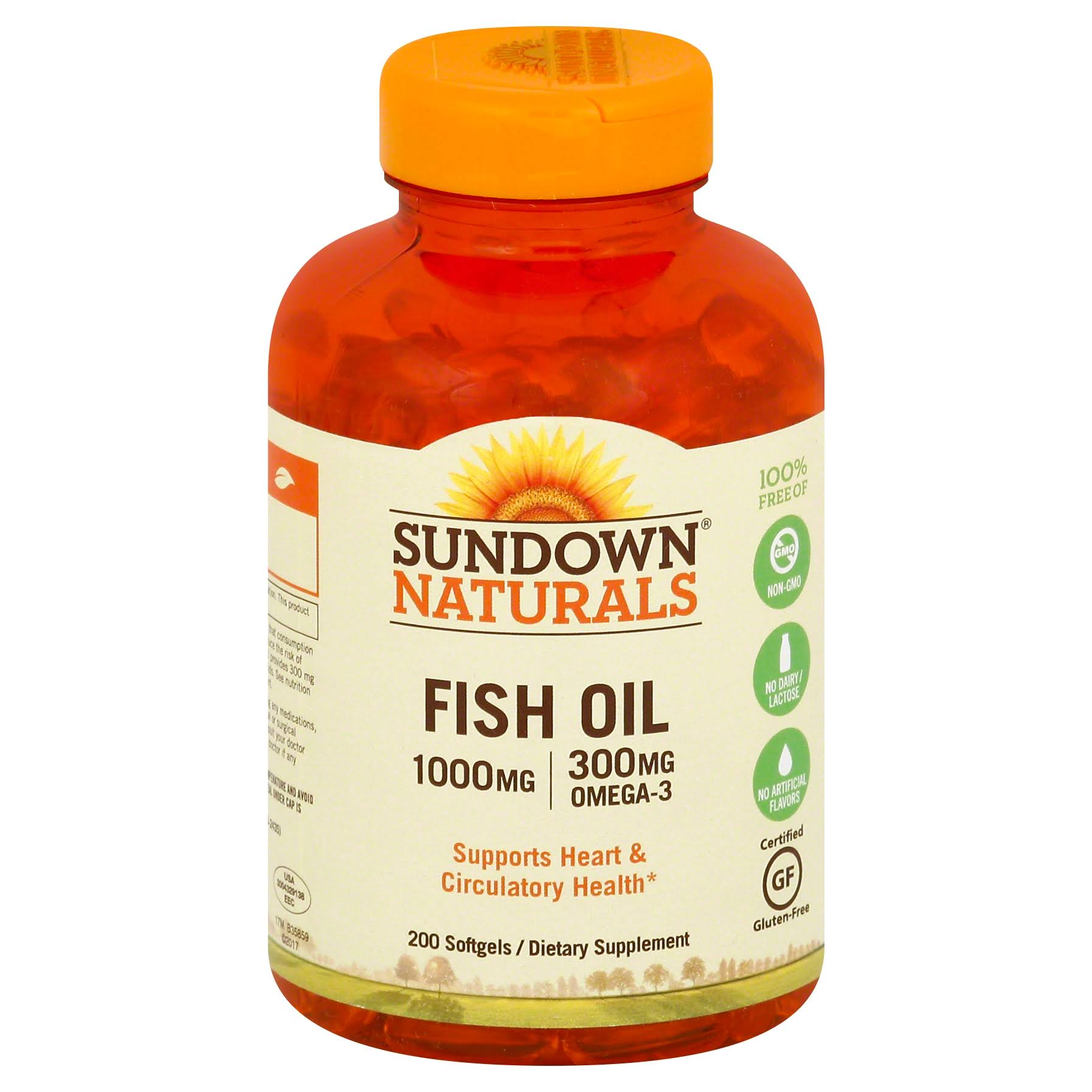 Sundown Naturals Fish Oil Supplement - 1000mg, 200ct