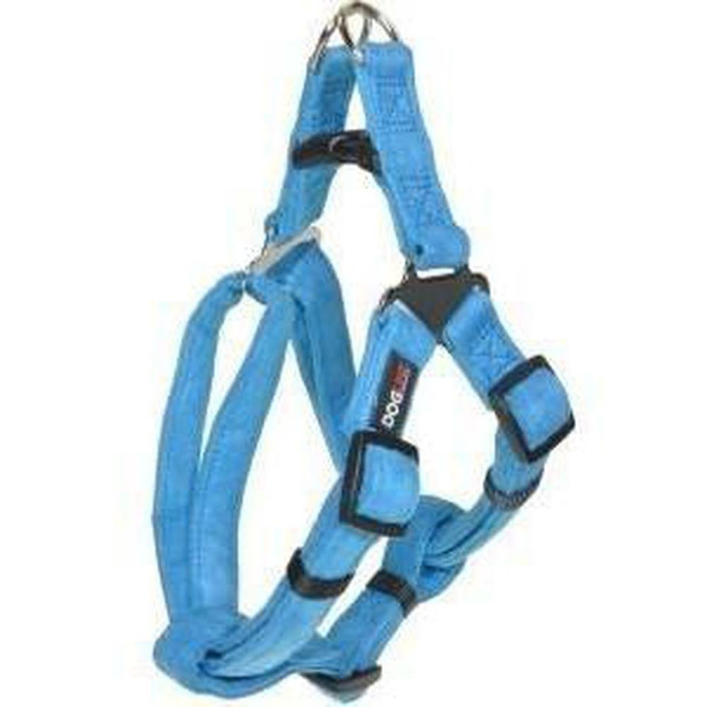 Dogline M8103-2 19-25 L x 0.34 W in. Comfort Microfiber Step-In Harness Blue